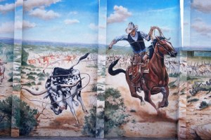 Portion of a mural in Hico, TX by artist Stylle Read