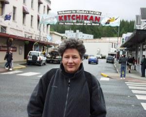 My wife in Ketchikan, Alaska in 2004