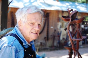 Clyde Wynia, the creator of Jurustic Park and the artist behind all of the work