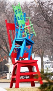Bro. Mel Meyer – Chairs, 1996 (located downtown Kirkwood)