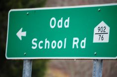 Odd School Road takes you into the town of Odd, WV