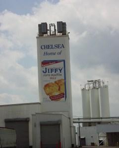 Chelsea, MI is home of the Jiffy Corn Muffin company