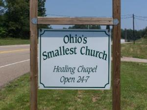 Ohio's Smallest Church, the Healing Chapel, is located in Torch.