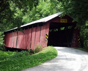 Charleston Mill Covered Bridge built in 1882