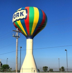 York, Nebraska Water Tower