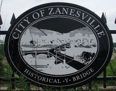 Zanesville, Ohio home of the Y Bridge