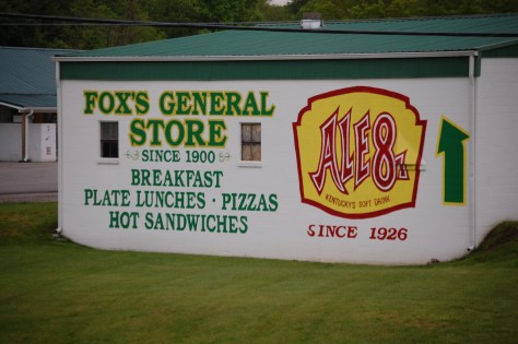 Advertisement for Fox's General Store in Trapp, KY