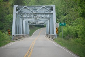 The Red River Bridge on KY 89 south of Trapp, KY