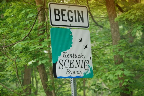 Kentucky Scenic Byway sign on KY 89