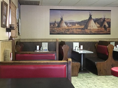 Another interior view of the Wigwam Drive-In in Ravenna, KY