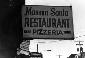 Mamma Santa sign ca. 1960s