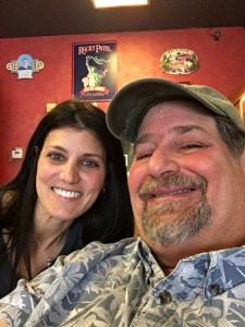 With my sister Nicole Laurienzo, who owns the Mayfield Smoke Shop.