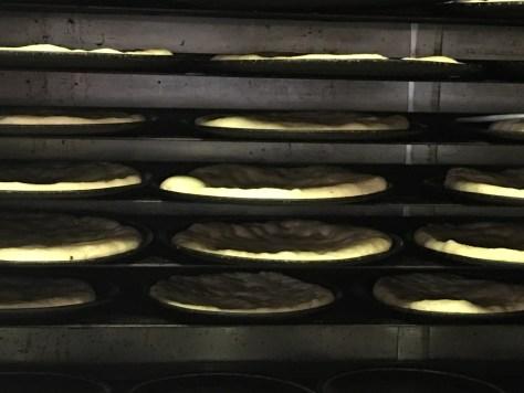 Home Made Pizza Dough rising at Mama Santa's