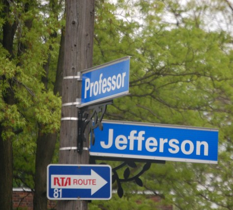 Professor and Jefferson in Tremont District of Cleveland