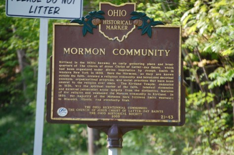 Historic Sign about the Mormons in Ohio