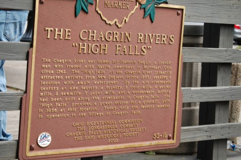 Chagrin Falls Historic Sign