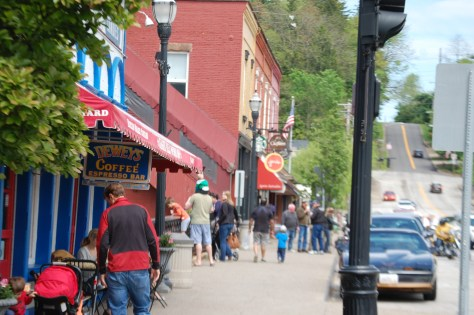 Stroll down Main Street Chagrin Falls, OH
