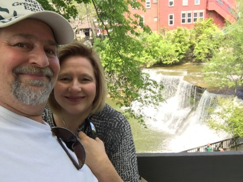 David and Julianne at Chagrin Falls in Ohio