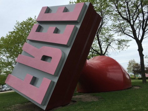 Oldenburg and van Bruggen's FREE Stamp in Willard Park, Cleveland