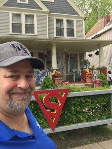 At the house that used to be the home of Jerry Siegel, the Creator of the Superman stories
