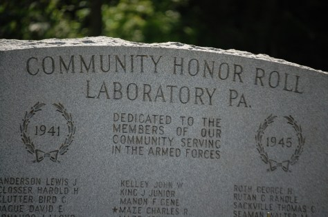 Community Honor Roll for Veterans in Laboratory, PA