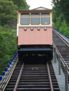 Heading down on the Mongahela Incline