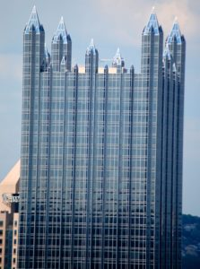 The PPG Glass Castle in downtown Pittsburgh