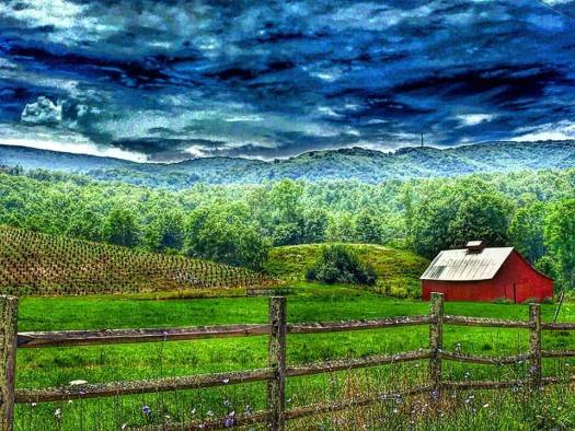 A pastoral scene from near the Green Cove Station on the Virginia Creeper Trail