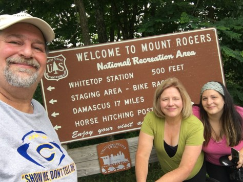 Dropped off my wife and daughter at Whitetop Station.