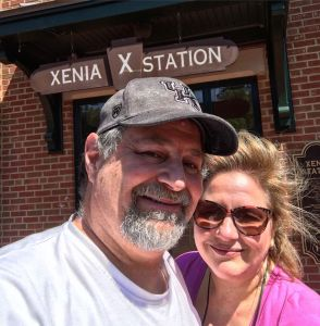 Julianne and David at Xenia Station on the Little Miami Scenic Trail