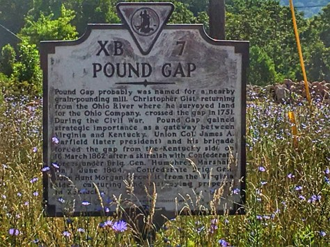 Pound Gap Historical Sign on the Virginia Border