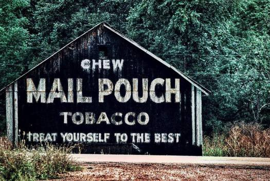 An old Mail Pouch barn in Brinkhaven, OH