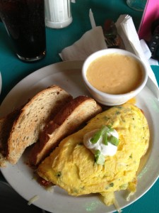 Matador Omelet and Cheese Grits
