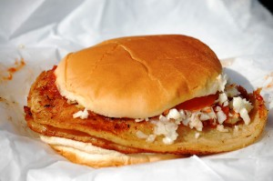 The Famous Snappy Lunch Pork Chop Sandwich