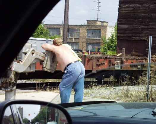 Resting on Train - Lima, Ohio