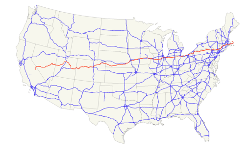 US Highway 6 map - from Wikipedia