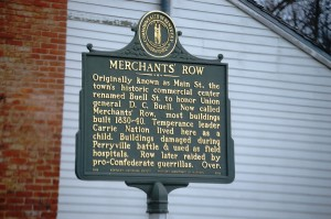 Merchant's Row Plaque