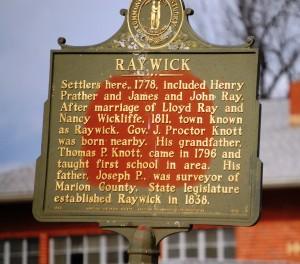 Raywick Historic Plaque