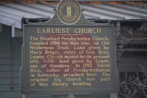 Earliest Church Plaque