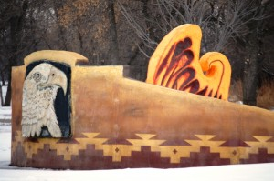 Rising Eagle Sculpture in Pioneer Park, Bismarck, ND