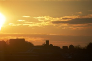 Sunset in North Dakota