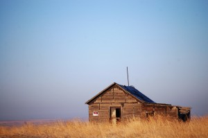 Old Cabin in the Plains as seen on Hwy 59