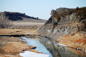 Mussellshell River near Mosby Rest area