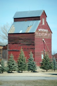 Old Wooden Grain Elevator - Grass Range, MT