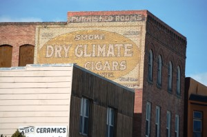 Old Building Advertisement, Butte, MT