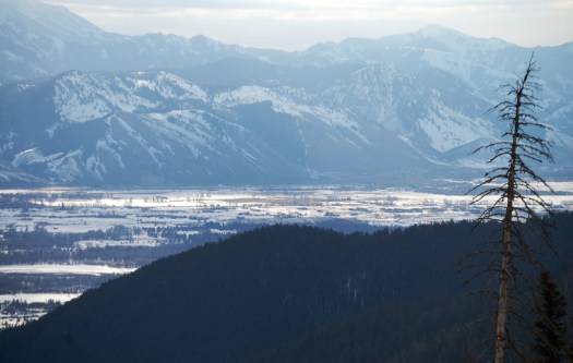 Jackson Hole Valley as seen from Teton Pass