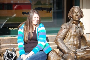 My niece Natalie with George Washington