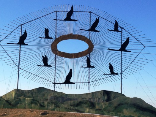 Gate to Enchanted Highway - Flying Geese
