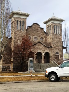 Old Rexburg Tabernacle which houses the Teton Flood Museum
