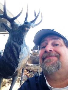 David and Elk Statue